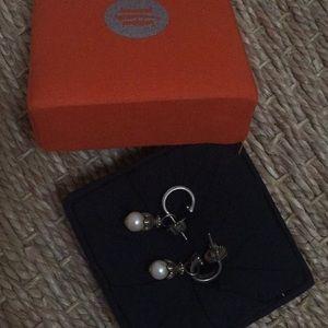 John hardy drop pearl earrings